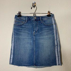 Sam Edelman Jenny Metallic Stripe Denim Mini Skirt